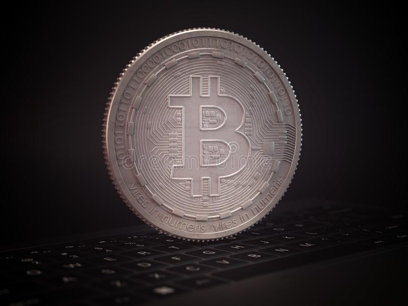 Bitcoin cryptocurrency royalty free stock photos