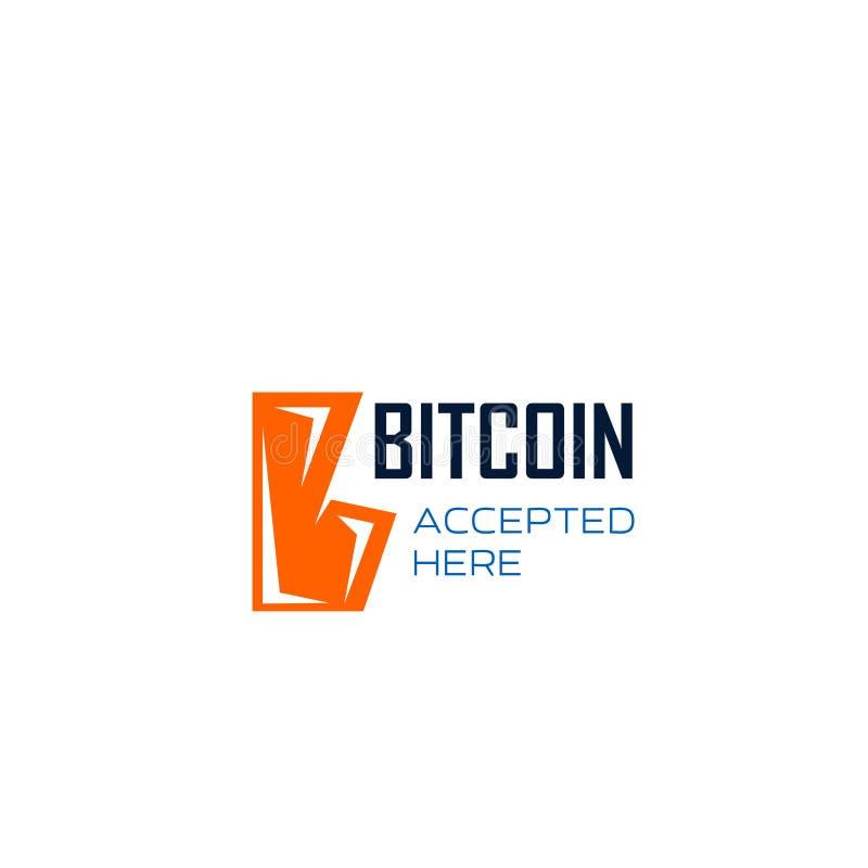 Bitcoin cryptocurrency wektoru listu b ikona ilustracji