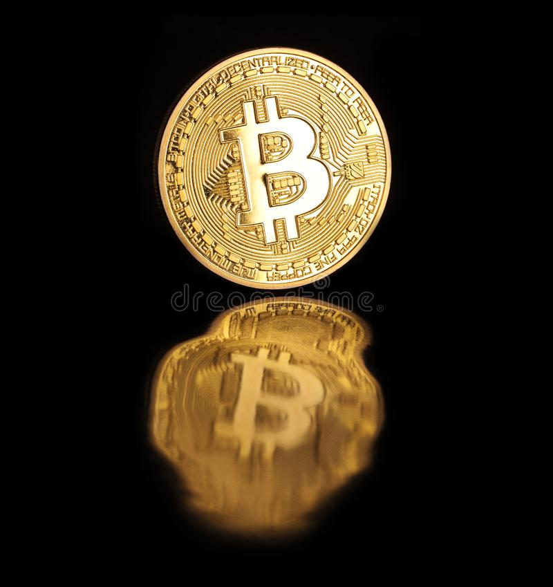 Bitcoin d'or photo stock