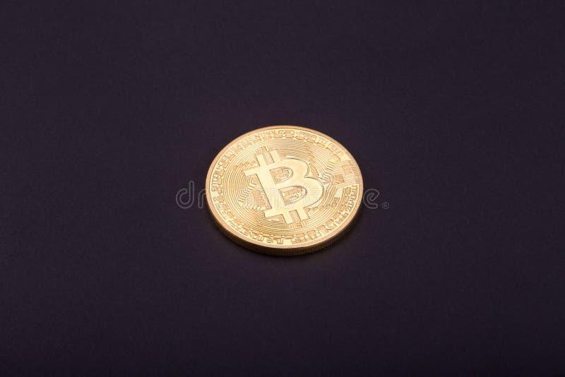 Bitcoin d'or photographie stock libre de droits