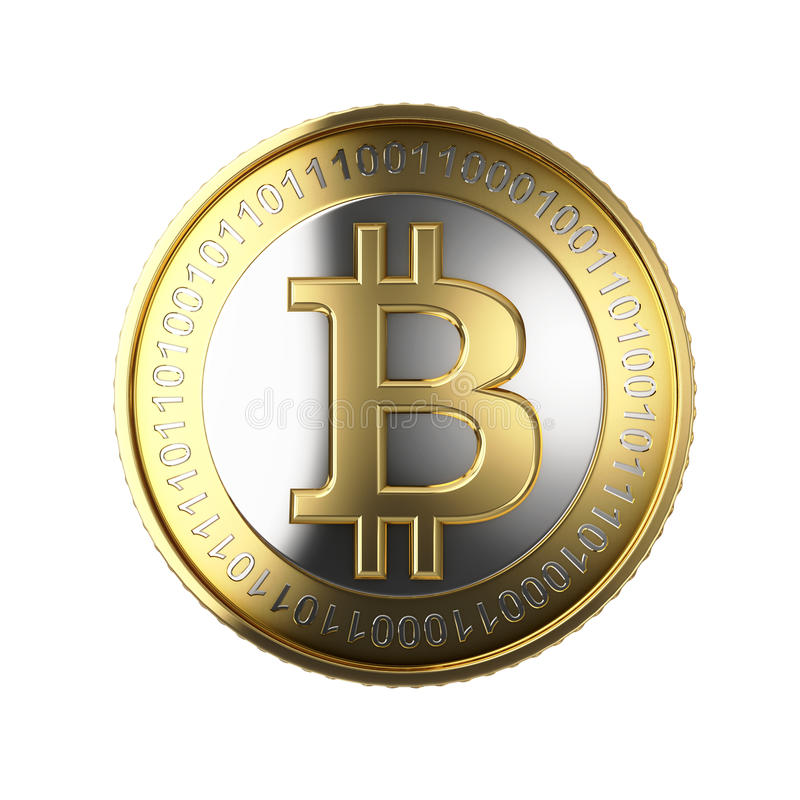 Bitcoin d'or photographie stock