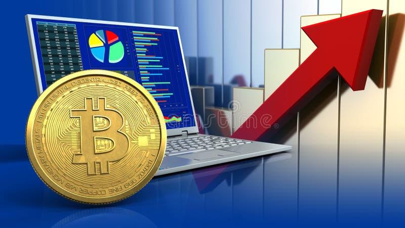 bitcoin 3d illustration libre de droits