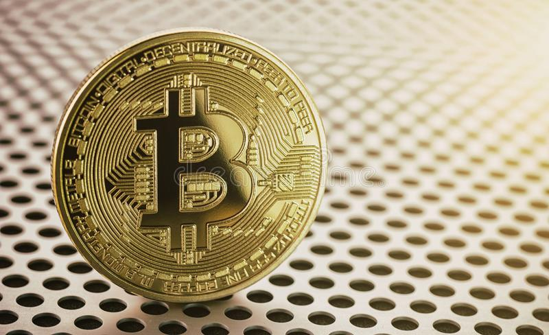 Bitcoin d'or concept marchand de crypto image de concept de devise images libres de droits