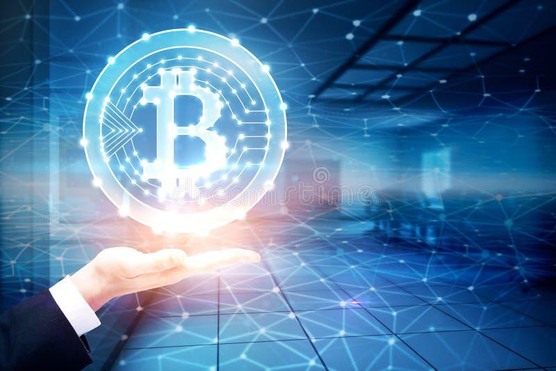 Bitcoin dans l'intérieur images stock