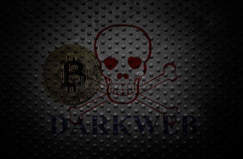 Bitcoin darkwebbegrepp royaltyfria foton