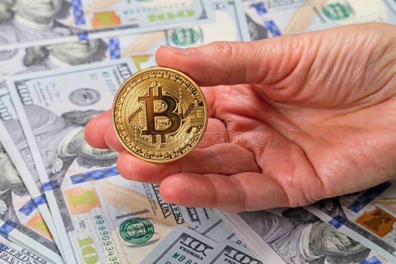 Bitcoin de pièce de monnaie disponible photos libres de droits