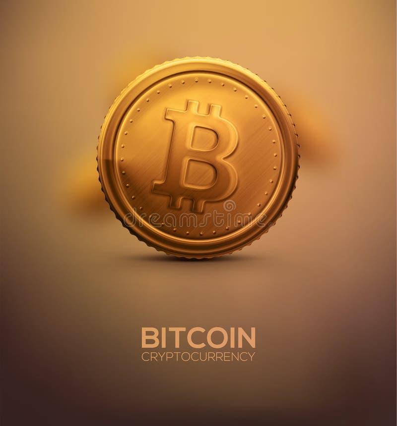 Bitcoin del oro ilustración del vector