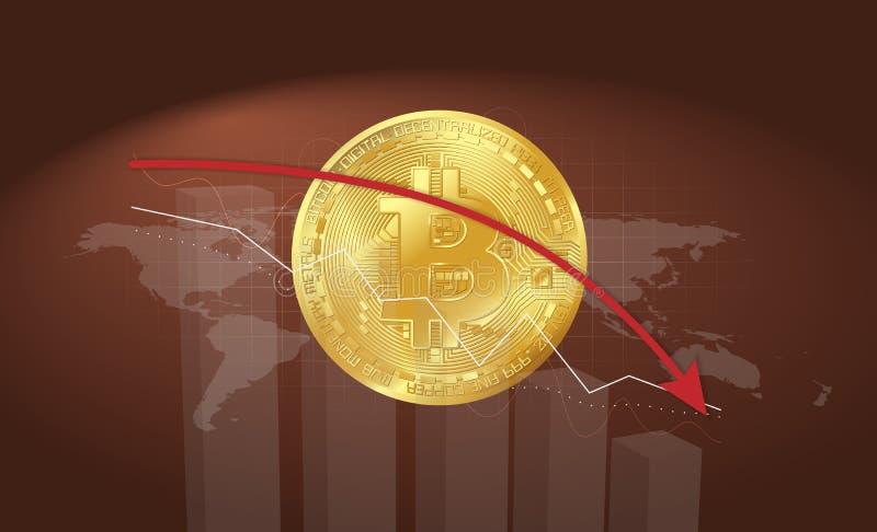 Bitcoin del oro del vector ilustración del vector