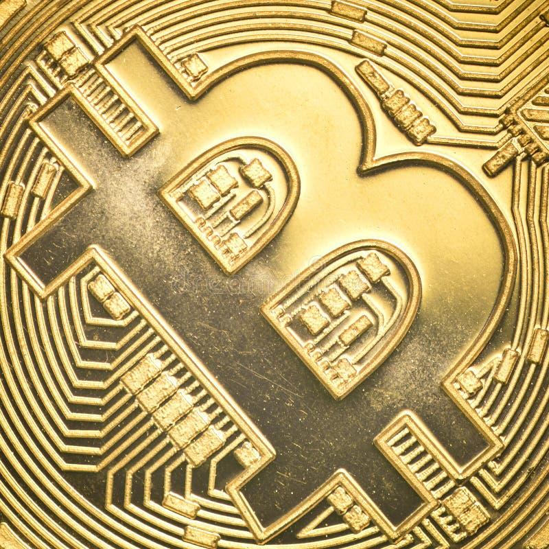 Bitcoin dell'oro fotografie stock