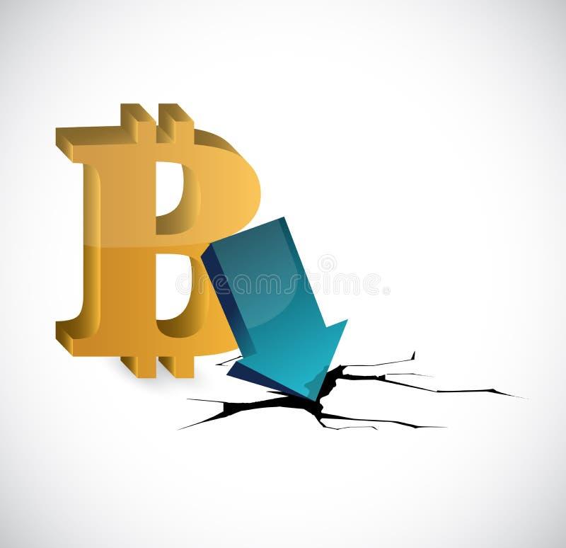 bitcoin depression Illustration. Vector Illustration. vector illustration