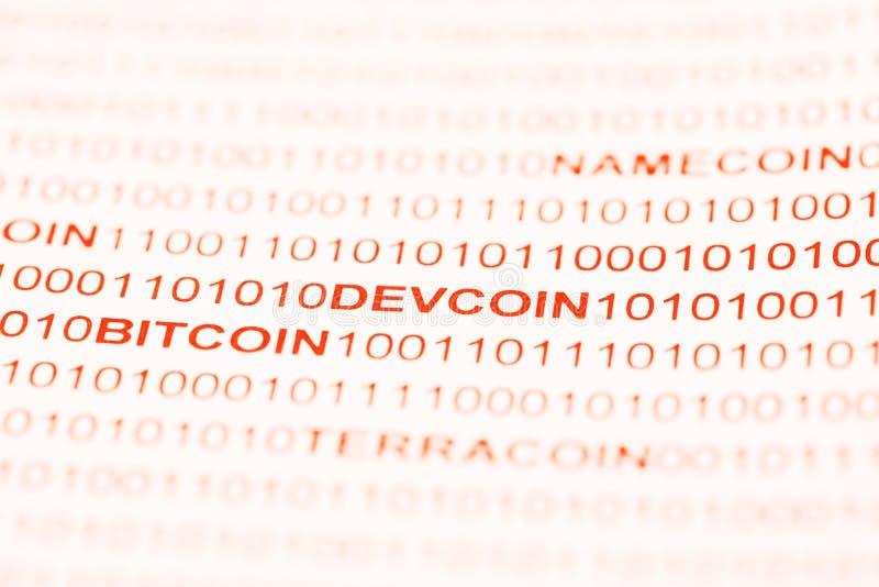 Bitcoin Devcoin付款系统 免版税库存图片