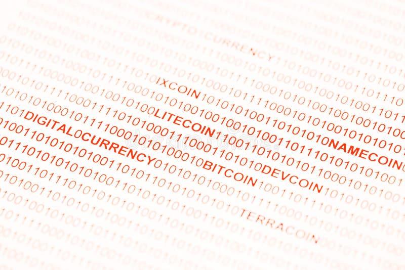 Bitcoin Devcoin Namecoin Terracoin Livecoin 库存照片