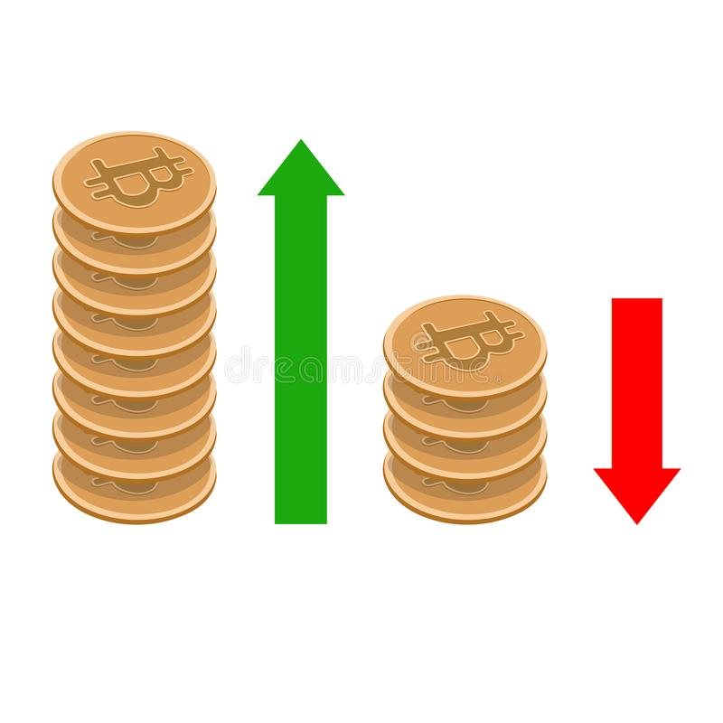 Bitcoin-Diagramm lizenzfreies stockfoto