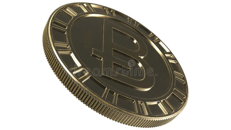 Bitcoin digital currency 3d rendering royalty free illustration