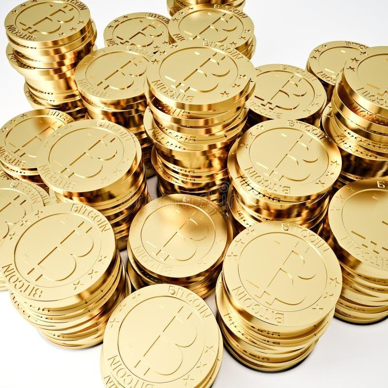Bitcoin dorato immagine stock libera da diritti