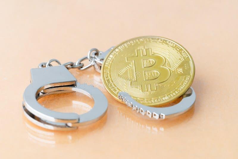 Bitcoin e algemas imagens de stock
