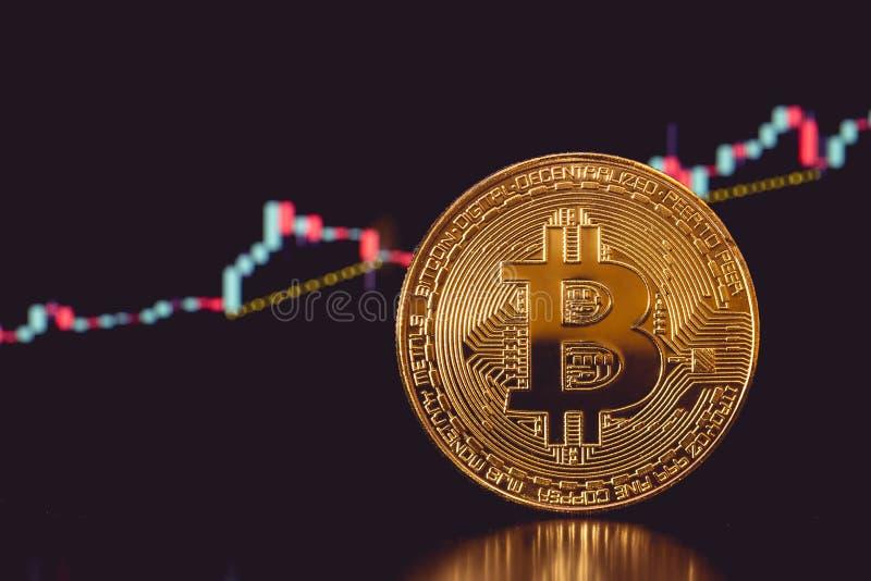 Bitcoin e carta imagens de stock