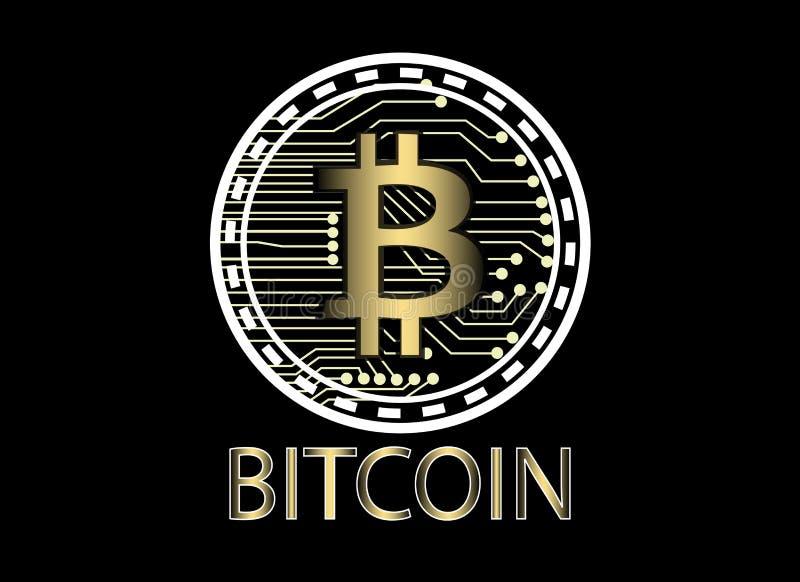 Bitcoin e conexão de rede do blockchain, coligação política de moeda virtual ilustração stock