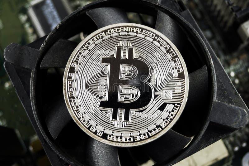 Bitcoin is een moderne manier van uitwisseling en deze crypto munt royalty-vrije stock foto