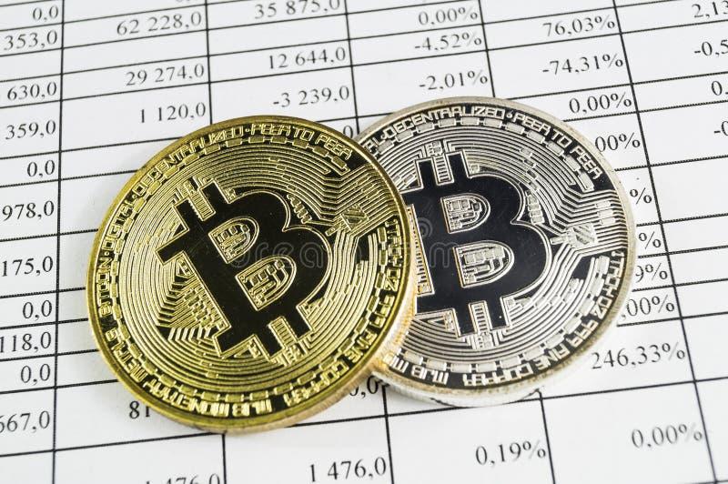 Bitcoin is een moderne manier van uitwisseling en deze crypto munt royalty-vrije stock afbeelding