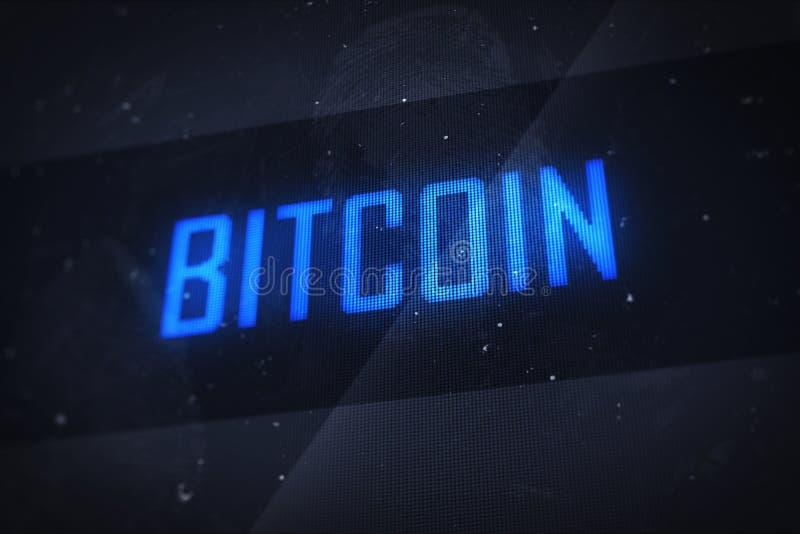Bitcoin ekranu komputerowego cyfrowy pojęcie ilustracji