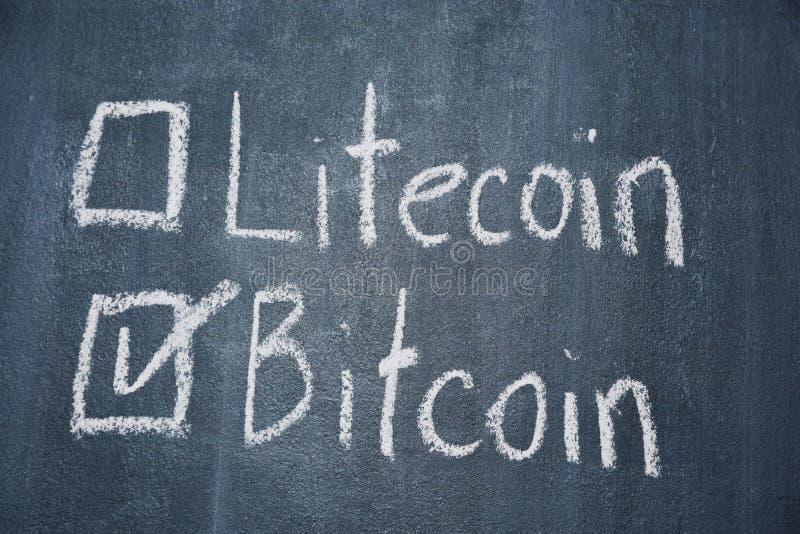 Bitcoin en Litecoin royalty-vrije stock foto
