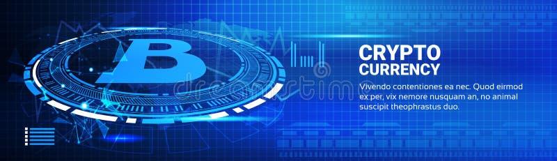 Bitcoin entwirft moderne Netz-Geld-Vernetzungs-Technologie vektor abbildung