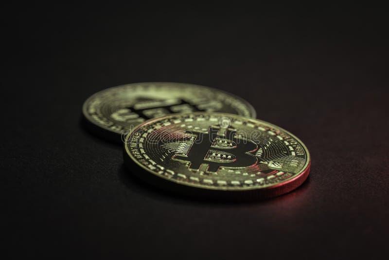 Bitcoin está en la subida imagen de archivo