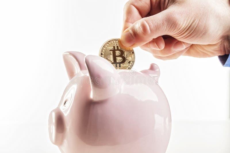 Bitcoin est futur photographie stock libre de droits