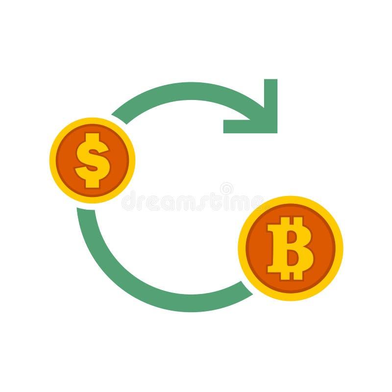 Bitcoin Exchanges Flow Symbol Vector Illustration Graphic. Design vector illustration