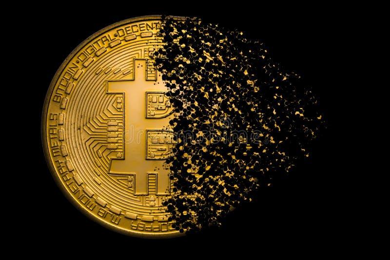 Bitcoin explosion royalty free stock image