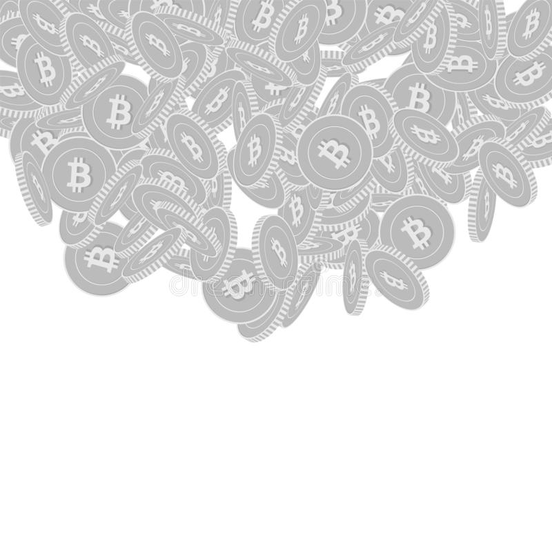 Bitcoin falla f?r internetvalutamynt Scattere royaltyfri illustrationer
