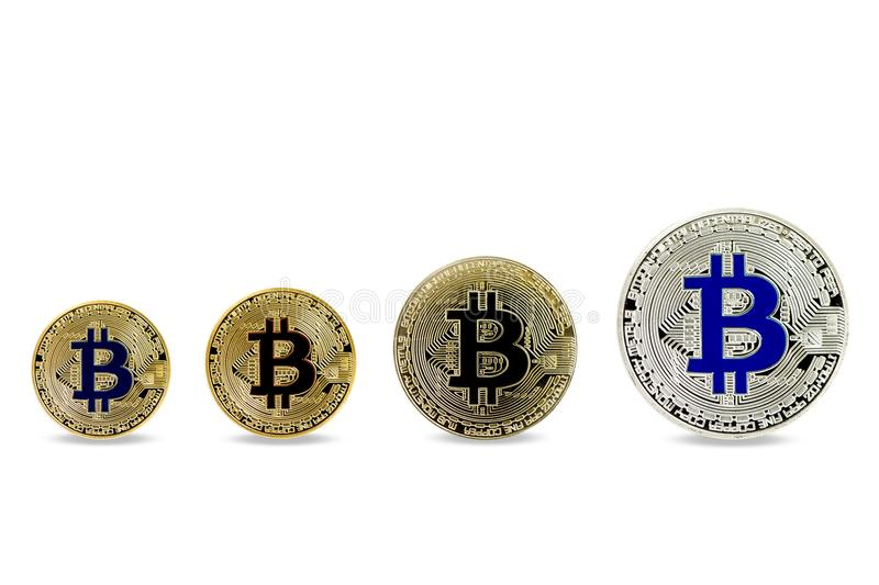 Bitcoin financial growth concept. Closeup on Bitcoin financial growth concept royalty free stock images