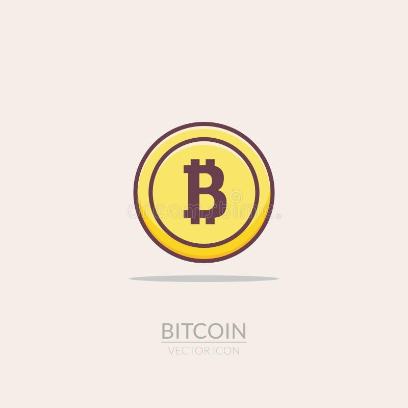 Bitcoin Flat Icon Digital Money Bit Coin Electronic Gold