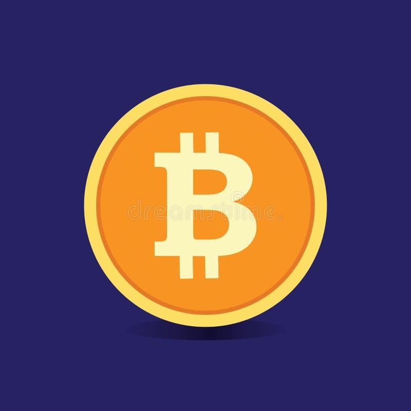 Bitcoin Fondi Digital Vettore immagine stock