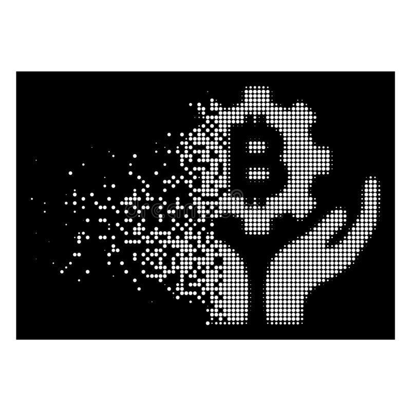 Dispersed Pixelated Halftone Champion Icon With Face Stock