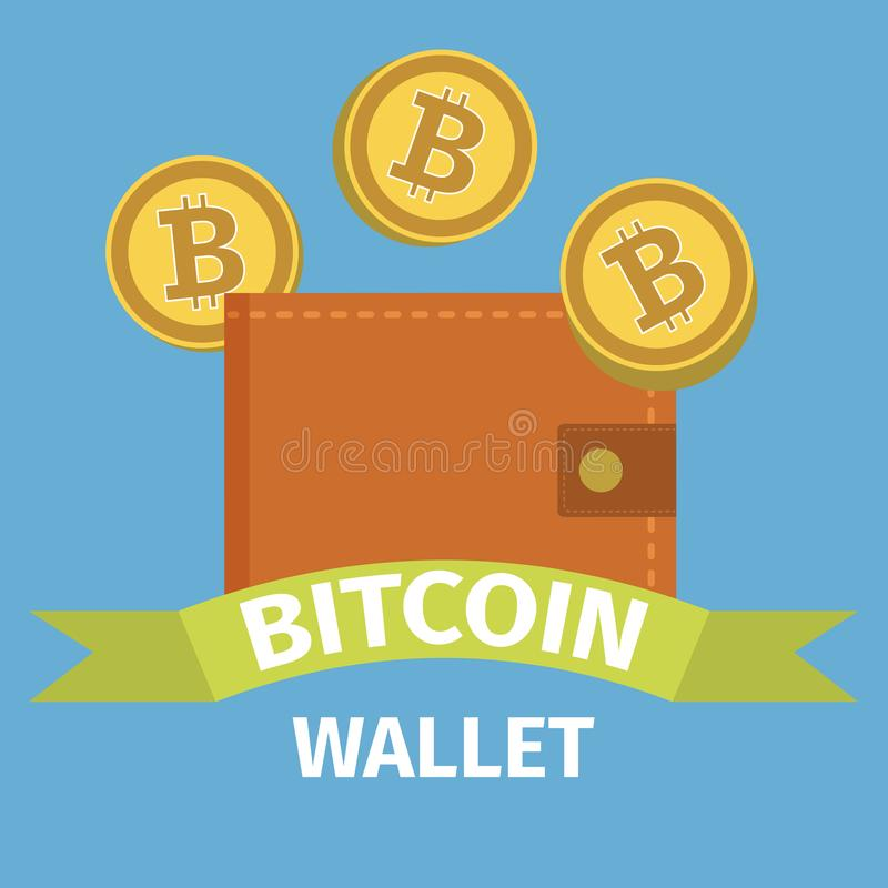 Bitcoin-Geldbörsenkonzept stock abbildung