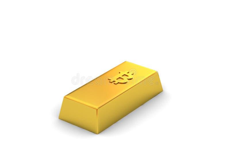 bitcoin Goldbar  库存例证