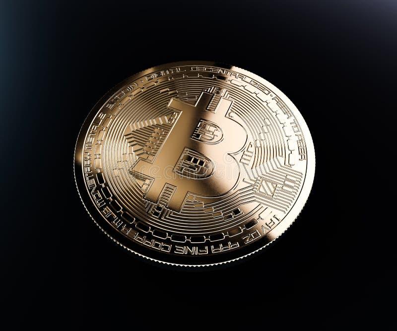 Download Bitcoin golden coin stock illustration. Illustration of network - 105241635