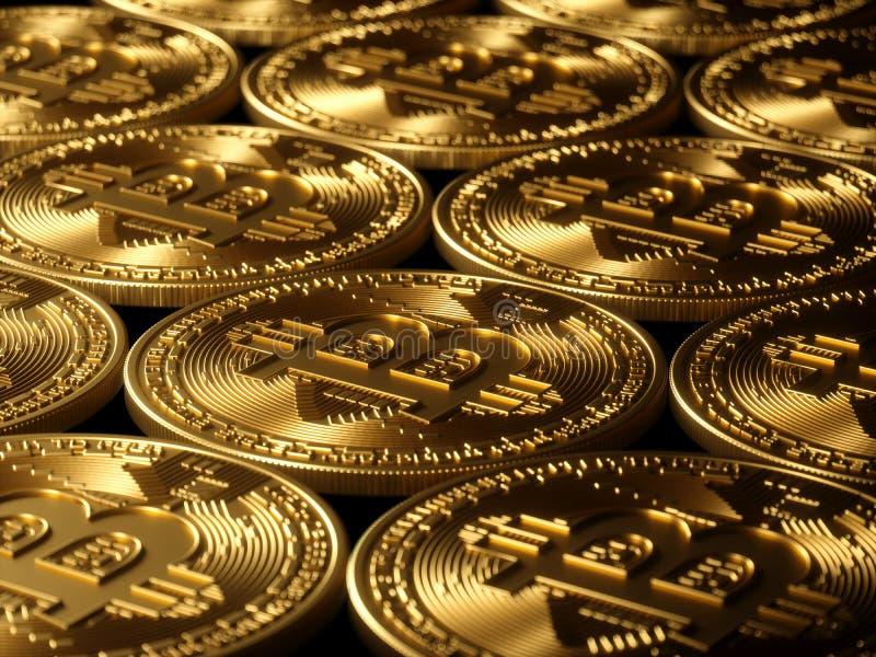 Bitcoin-Goldhintergrundhohe auflösung stockfotos