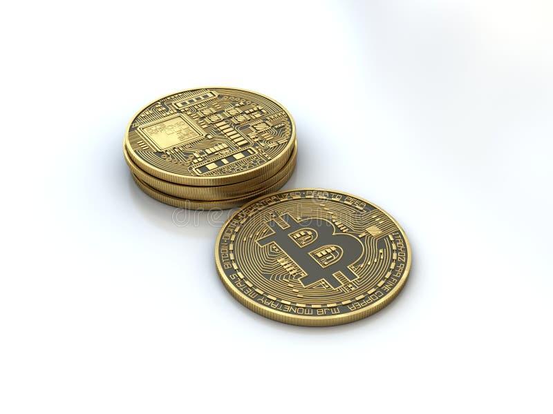 Bitcoin gouden muntstuk stock afbeelding