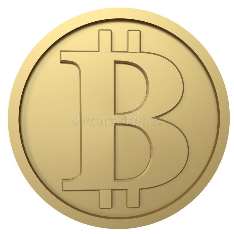 Bitcoin gouden muntstuk stock foto