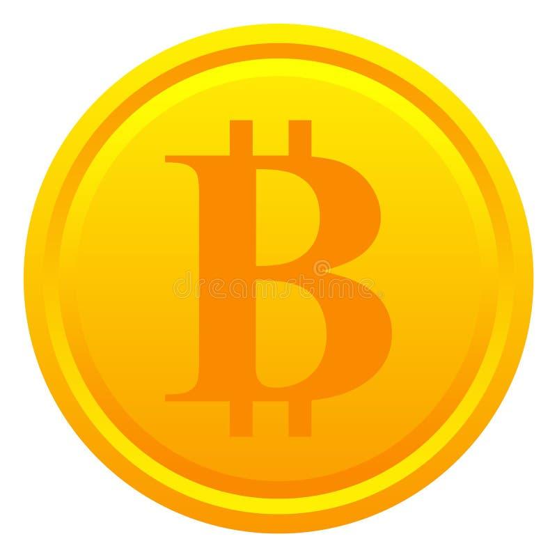 Bitcoin gouden muntstuk stock illustratie