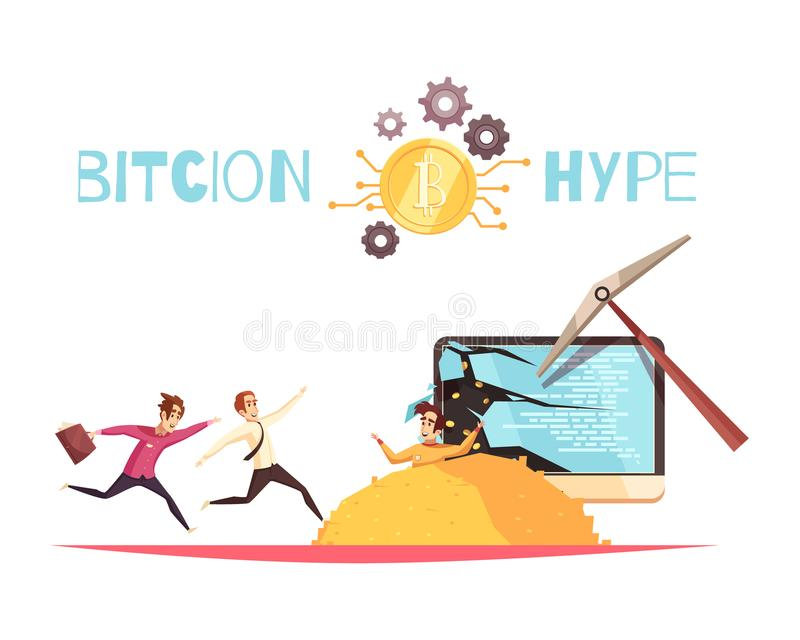 Bitcoin Hype Design Concept stock illustration