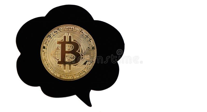 Bitcoin i bubbla royaltyfri bild