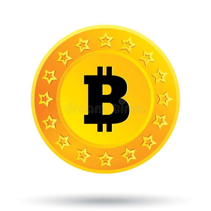 Bitcoin Open Source P2p >> Bitcoin Icon. Cryptography Currency. P2P. Stock Illustration - Image: 36199233