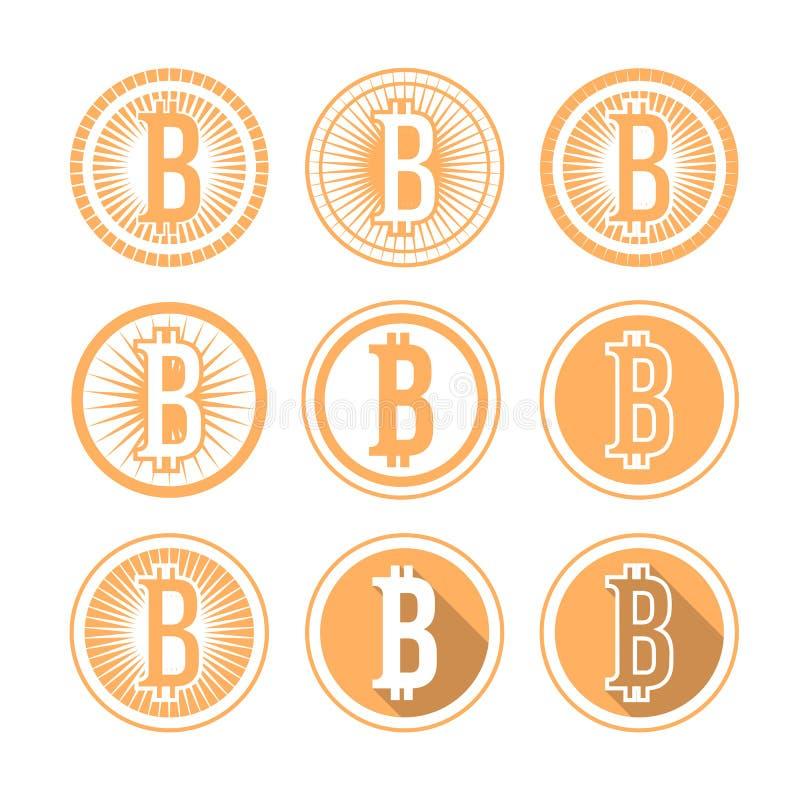 Bitcoin icon. Vector bitcoin logo. Bitcoin icon. Vector bitcoin design elements, badges, labels stock illustration