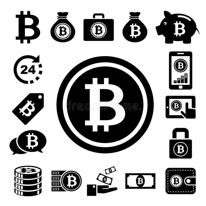 Bitcoin ikony ustawiać ilustracji