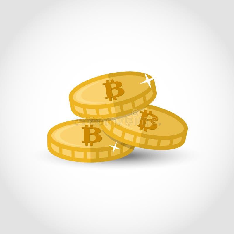 Bitcoin illustration vector over white. royalty free illustration