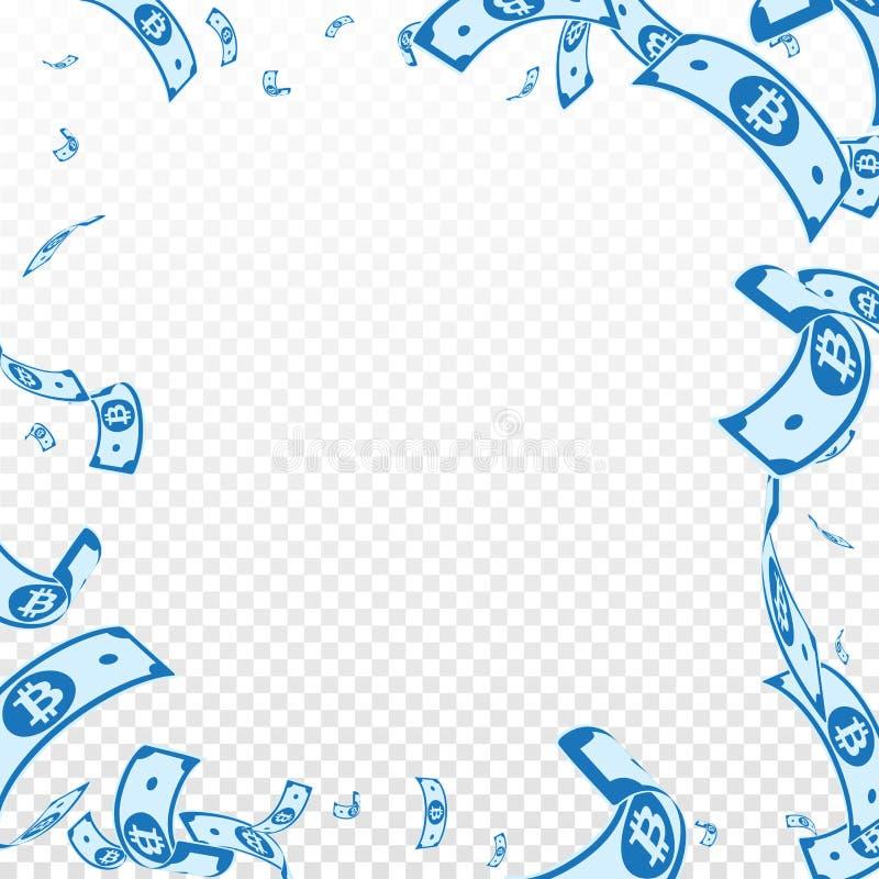 Bitcoin, Internet-Banknotefallen Gelegentliches B stock abbildung